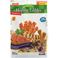 Nylabone Healthy Edibles Mini Roast Beef, Chicken & Bacon Flavored Dog Treat Bones, 85 count