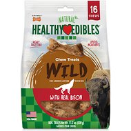 Nylabone Healthy Edibles Wild Bison Flavored Dog Treats, Regular, 16 count