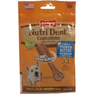 Nylabone Nutri Dent Adult Filet Mignon Mini Dental Chews, 32 count