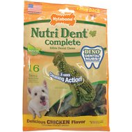 Nylabone Nutri Dent Complete Small Dental Dino Dog Treats, 16 count