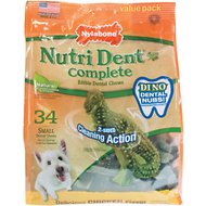 Nylabone Nutri Dent Complete Small Dental Dino Dog Treats, 34 count