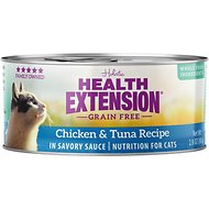 Health Extension Grain-Free Chicken & Tuna Recipe Canned Cat Food, 3-oz, case of 24