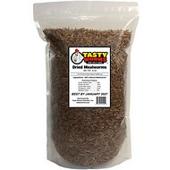 Tasty Worms Dried Mealworms Bird, Reptile & Small Pet Food, 8-oz bag