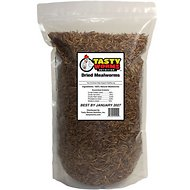 Tasty Worms Dried Mealworms Bird, Reptile & Small Pet Food, 16-oz bag