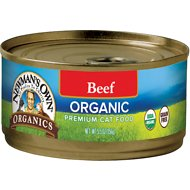 Newman's Own Organics Grain-Free Beef Canned Cat Food, 5.5-oz, case of 24