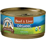 Newman's Own Organics Grain-Free Beef & Liver Canned Cat Food, 5.5-oz, case of 24