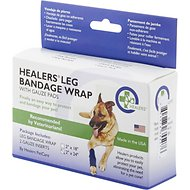 Healers Dog Leg Bandage Wrap & Gauze Pads, Medium
