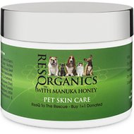 ResQ Organics Skin Treatment with Manuka Honey Dog & Cat Healing Balm, 2-oz jar