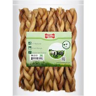 Best Pet Supplies GigaBite Braided Bully Sticks Dog Treats, 12-in, 10 count