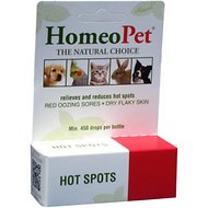 HomeoPet Hot Spots Dog, Cat, Bird & Small Animal Supplement, 450 drops