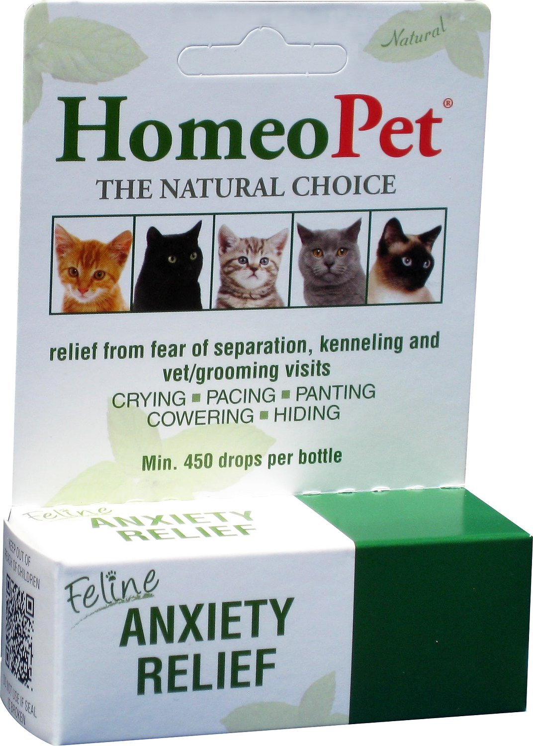 Homeopet Feline Anxiety Relief Cat Supplement 450 Drops Chewy Com