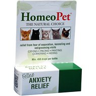 HomeoPet Feline Anxiety Relief Cat Supplement, 450 drops