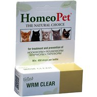 HomeoPet Feline WRM Clear Cat Supplement, 450 drops
