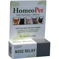 HomeoPet Feline Nose Relief Cat Supplement, 450 drops