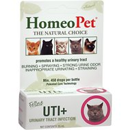 HomeoPet Feline UTI+ Cat Supplement, 450 drops