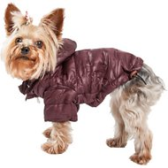 Pet Life Lightweight Sporty Avalanche Dog Coat, X-Small, Brown