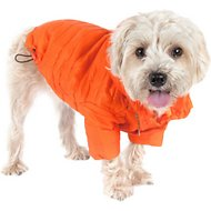 Pet Life Lightweight Sporty Avalanche Dog Coat, Orange, X-Small
