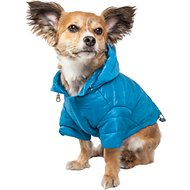 Pet Life Lightweight Sporty Avalanche Dog Coat, Blue, Small