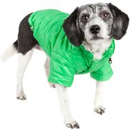 Pet Life Lightweight Sporty Avalanche Dog Coat, Green, Small