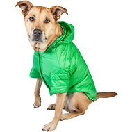 Pet Life Lightweight Sporty Avalanche Dog Coat, X-Large, Green