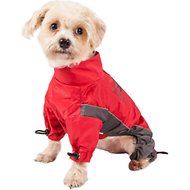 Touchdog Quantum-Ice Full-Bodied Reflective Dog Jacket with Blackshark Technology, Red, X-Small