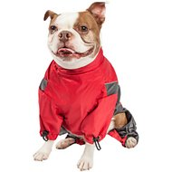 Touchdog Quantum-Ice Full-Bodied Reflective Dog Jacket with Blackshark Technology, Large, Red
