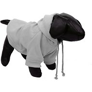 Pet Life Fashion Plush Cotton Hooded Dog Sweater, Medium, Grey