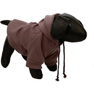 Pet Life Fashion Plush Cotton Hooded Dog Sweater, Brown, Large