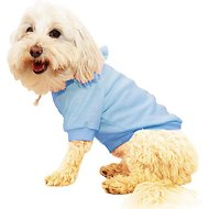 Pet Life French Terry Hooded Dog Sweater, Medium, Blue
