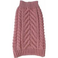Pet Life Swivel-Swirl Heavy Cable Knitted Dog Sweater, Pink, X-Small