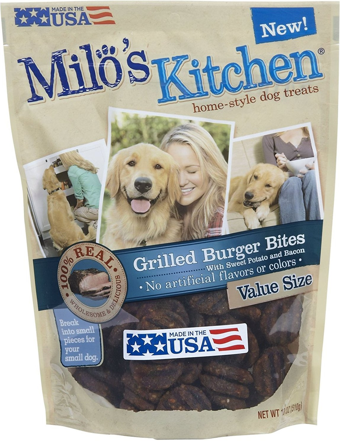 Milo\'s Kitchen Grilled Burger Bites with Sweet Potato & Bacon Dog ...