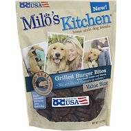 Milo's Kitchen Grilled Burger Bites with Sweet Potato & Bacon Dog Treats, 18-oz bag