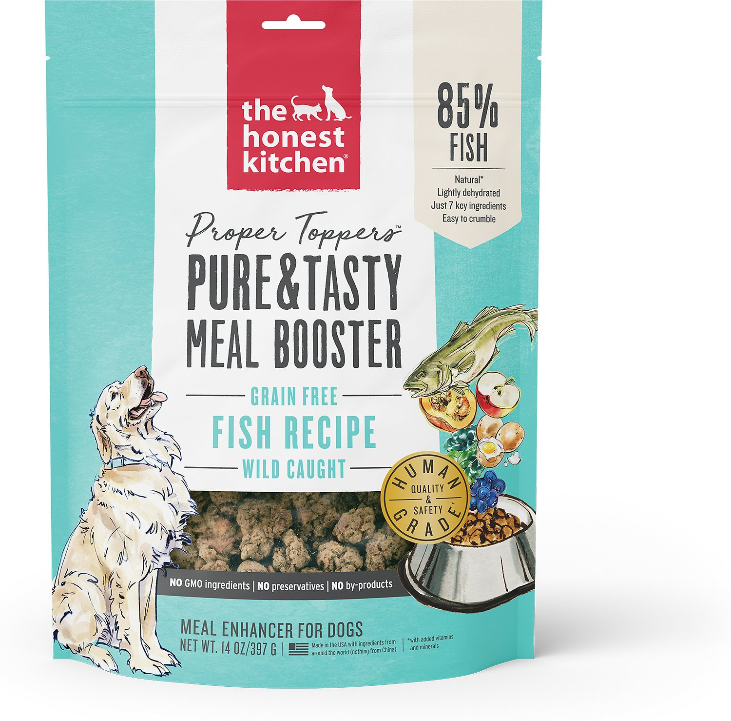 the honest kitchen proper toppers grain free fish recipe dog food