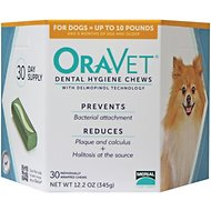 OraVet Dental Hygiene Chews for Dogs, up to 10 lbs, 30 count
