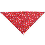 Top Performance Tossed Bones Dog Bandana, Red