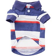Zack & Zoey Patriotic SPF40 Dog Polo, XX-Small
