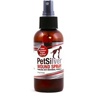 PetSilver Painless Antimicrobial Dog & Cat Wound Spray, 4-oz bottle