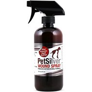 PetSilver Painless Antimicrobial Dog & Cat Wound Spray, 16-oz bottle