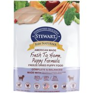 Stewart Raw Naturals Puppy Formula Grain-Free Freeze-Dried Dog Food, 12-oz bag