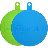 Petbuddies Twin Pack Silicone Can Cover, Blue/Green