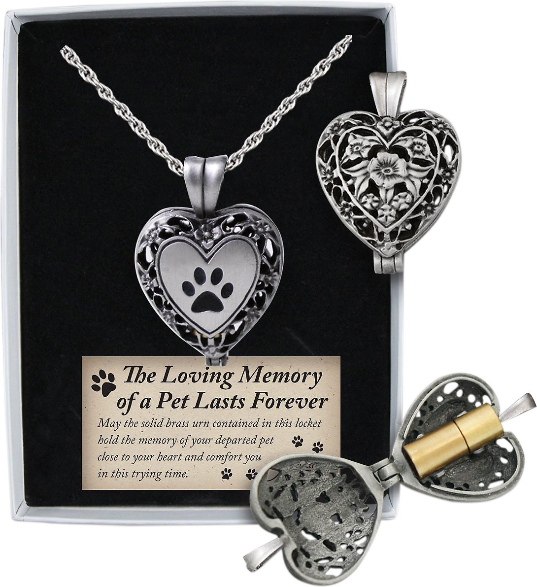 small gifts a filigree product urn place of brass which goldfingers locket ash print holds your beautiful info opens reveal quantity ashes id memorial paw pets heart products catalog into tiny holder to you pet lockets