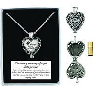 Cathedral Art Always In My Heart Memorial Ashes Locket Necklace, Pewter