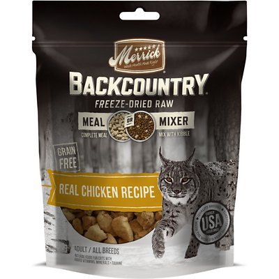 Merrick's Backcountry Grain-Free Meal Mixer Real Chicken Recipe Freeze-Dried Raw Cat Food