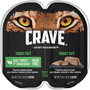 Crave Turkey Pate Grain-Free Cat Food Trays