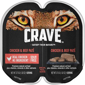 Crave Chicken Beef Pate Grain-Free Cat Food Trays
