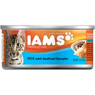 Iams Premium Pate with Seafood Sampler Canned Cat Food, 3-oz, case of 24