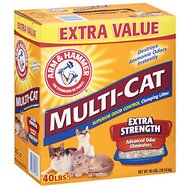 Arm & Hammer Litter Multi-Cat Strength Fresh Scent Clumping Litter, 40-lb box