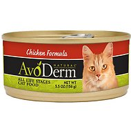 AvoDerm Natural Chicken Formula Canned Cat Food, 5.5-oz, case of 24
