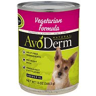 AvoDerm Natural Vegetarian Formula Adult Canned Dog Food, 13-oz, case of 12