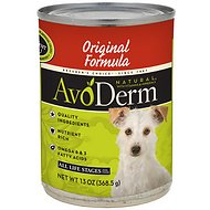 AvoDerm Natural Original Formula Canned Dog Food, 13-oz, case of 12